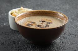 Грибной крем-суп с гренками