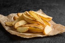 Картофельные дольки волнистые в кожуре