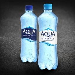 Вода Аква Минерале 0,5л ПЭТ газ/без газа