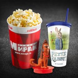 Детский комбо (попкорн V46 солёный + разливной напиток в сувенирном стакане 0,5л.+ один топпер)